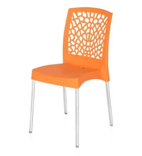 Nilkamal Novella 19SS Orange Chair