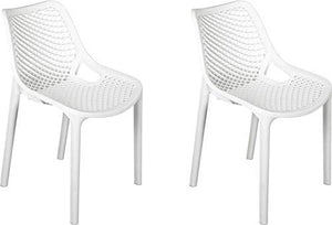 Nilkamal Vento Set of 2 Plastic Chair (Milky White)