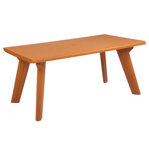 bison dining table amber gold
