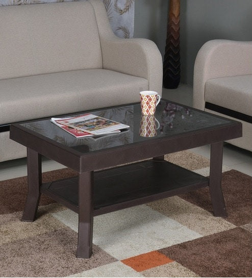 Nilkamal Center Table in Weather Brown Color
