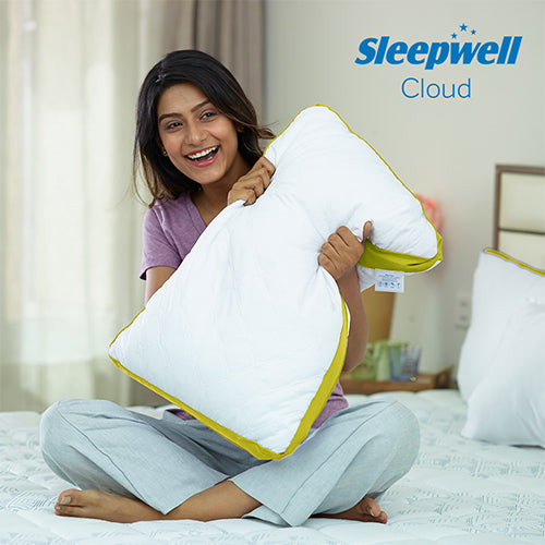 Sleepwell Cloud Low Rise Pillow