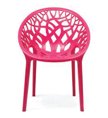 Nilkamal Crystal PP Pink Chair