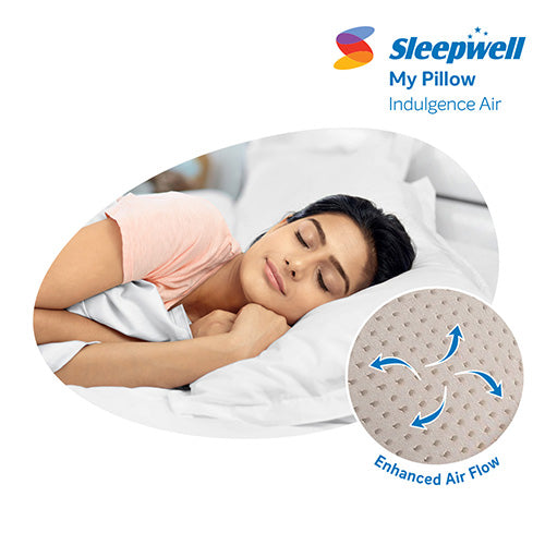 Sleepwell Indulgence Air High Rise Pillow