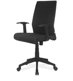 Nilkamal Thames Medium Back Ergonomic Chair in Black Color