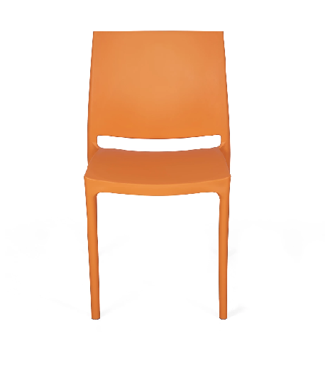 Nilkamal Novella 08 Orange Chair