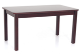 orange 4-seater dining table