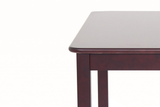 JFA orange 4-seater dining table