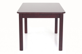 orange 4-seater wooden dining table