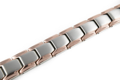 Elegant Titanium Magnetic Therapy Anklet (Silver & Rose Gold) - Smarter LifeStyle Shop