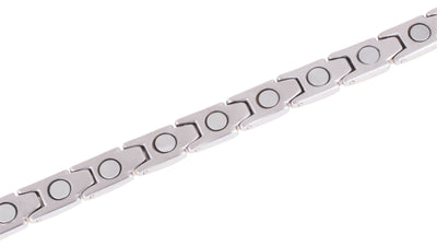 Elegant Womens Titanium Magnetic Therapy Bracelet - 7.8 Inches (20cm) / Silver & Gold - Smarter LifeStyle Shop