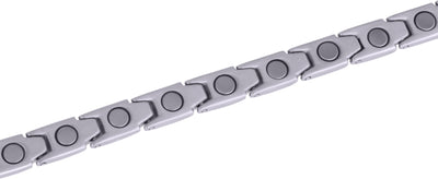 Elegant Womens Titanium Magnetic Therapy Bracelet: 7.8 Inches (20cm) / Silver - Smarter LifeStyle Shop