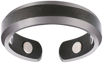 Elegant Titanium Magnetic Therapy Ring Gunmetal Gray, Size 13 - Smarter LifeStyle Shop