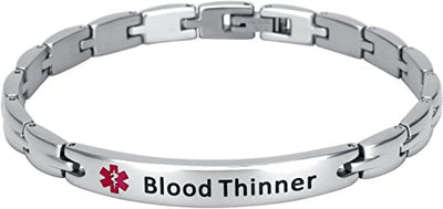 Elegant Surgical Grade Steel Medical Alert ID Bracelet - Women's / Blood Thinner - Smarter LifeStyle Shop
