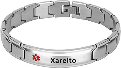 Elegant Surgical Grade Steel Medical Alert ID Bracelet For Men and Women (Men's, Xarelto) - Smarter LifeStyle Shop
