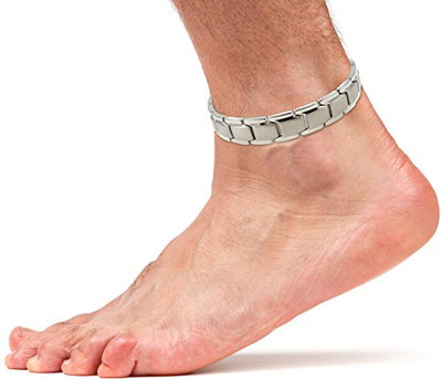 Elegant Titanium Magnetic Therapy Anklet For Men and Women (Silver) - Smarter LifeStyle Shop