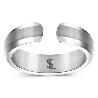 Elegant Titanium Magnetic Therapy Ring Silver, Size 07 - Smarter LifeStyle Shop