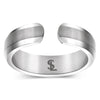 Elegant Titanium Magnetic Therapy Ring Silver, Size 13 - Smarter LifeStyle Shop