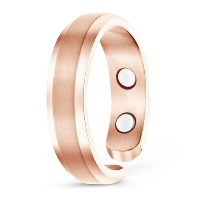 Elegant Titanium Magnetic Therapy Ring Rose Gold, Size 13 - Smarter LifeStyle Shop