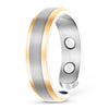 Elegant Titanium Magnetic Therapy Ring Silver & Gold, Size 13 - Smarter LifeStyle Shop