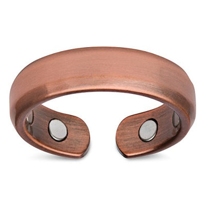 Elegant Pure Copper Magnetic Therapy Ring - Single Ring / Size 10 - Smarter LifeStyle Shop