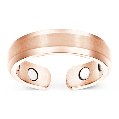 Elegant Titanium Magnetic Therapy Ring Rose Gold, Size 10 - Smarter LifeStyle Shop