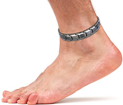 Elegant Titanium Magnetic Therapy Anklet For Men and Women (Gunmetal Gray) - Smarter LifeStyle Shop
