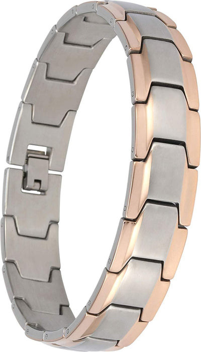 Elegant Surgical Grade Steel Men's Wide Link Stylish Bracelet, 4 Colors to Choose from (Silver & Rose Gold) - Smarter LifeStyle Shop