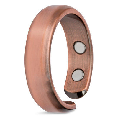 Elegant Pure Copper Magnetic Therapy Ring Single Ring - Size 13 - Smarter LifeStyle Shop