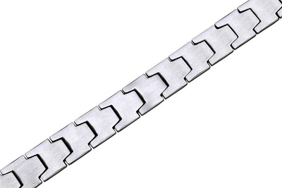 Smarter LifeStyle Elegant Surgical Grade Steel Men's Wide Link Stylish Bracelet, 4 Colors to Choose from (Silver) - Smarter LifeStyle Shop