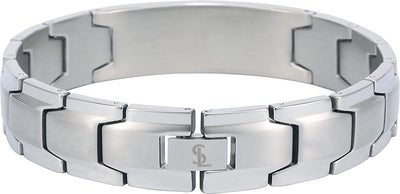 Smarter LifeStyle Elegant DAD & Father Themed Surgical Grade Steel Men's Bracelet Gift, Many Styles to Choose from (Superdad - Silver) - Smarter LifeStyle Shop