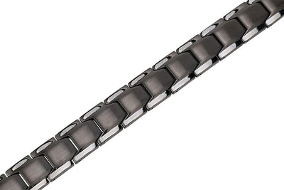 Elegant Men's Double Magnet Wide Titanium Magnetic Therapy Bracelet Pain Relief for Arthritis and Carpal Tunnel (Gunmetal Gray) - Smarter LifeStyle Shop