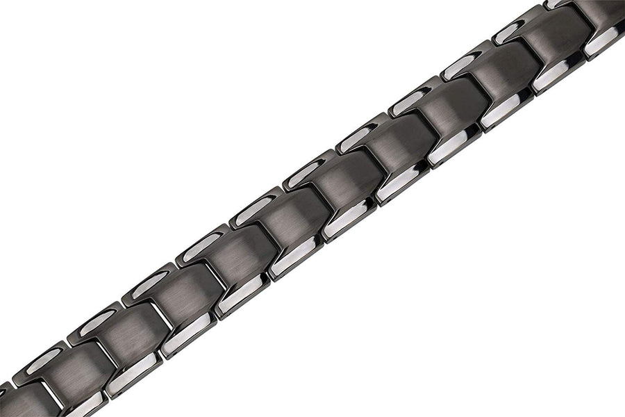Smarter LifeStyle Elegant Surgical Grade Steel Men's Wide Link Stylish Bracelet, 4 Colors to Choose from (Gunmetal Gray) - Smarter LifeStyle Shop