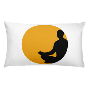 """The Meditator"" Basic Pillow"
