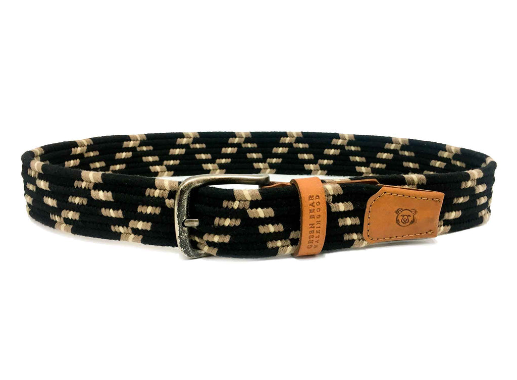 Belt Casual - Black - Green Bear Shoes