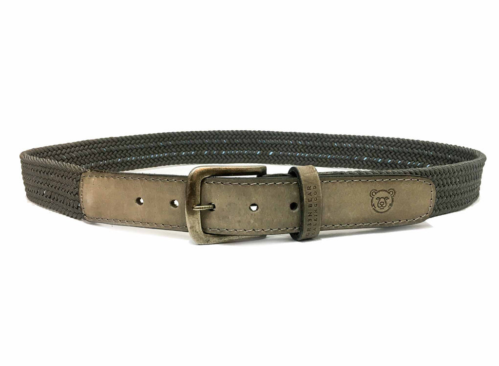 Belt Sport - Gray - Green Bear Shoes