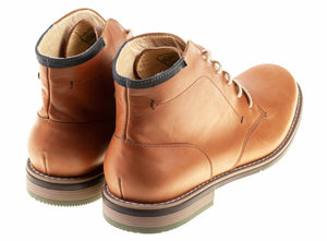 London - Light Brown - Green Bear Shoes