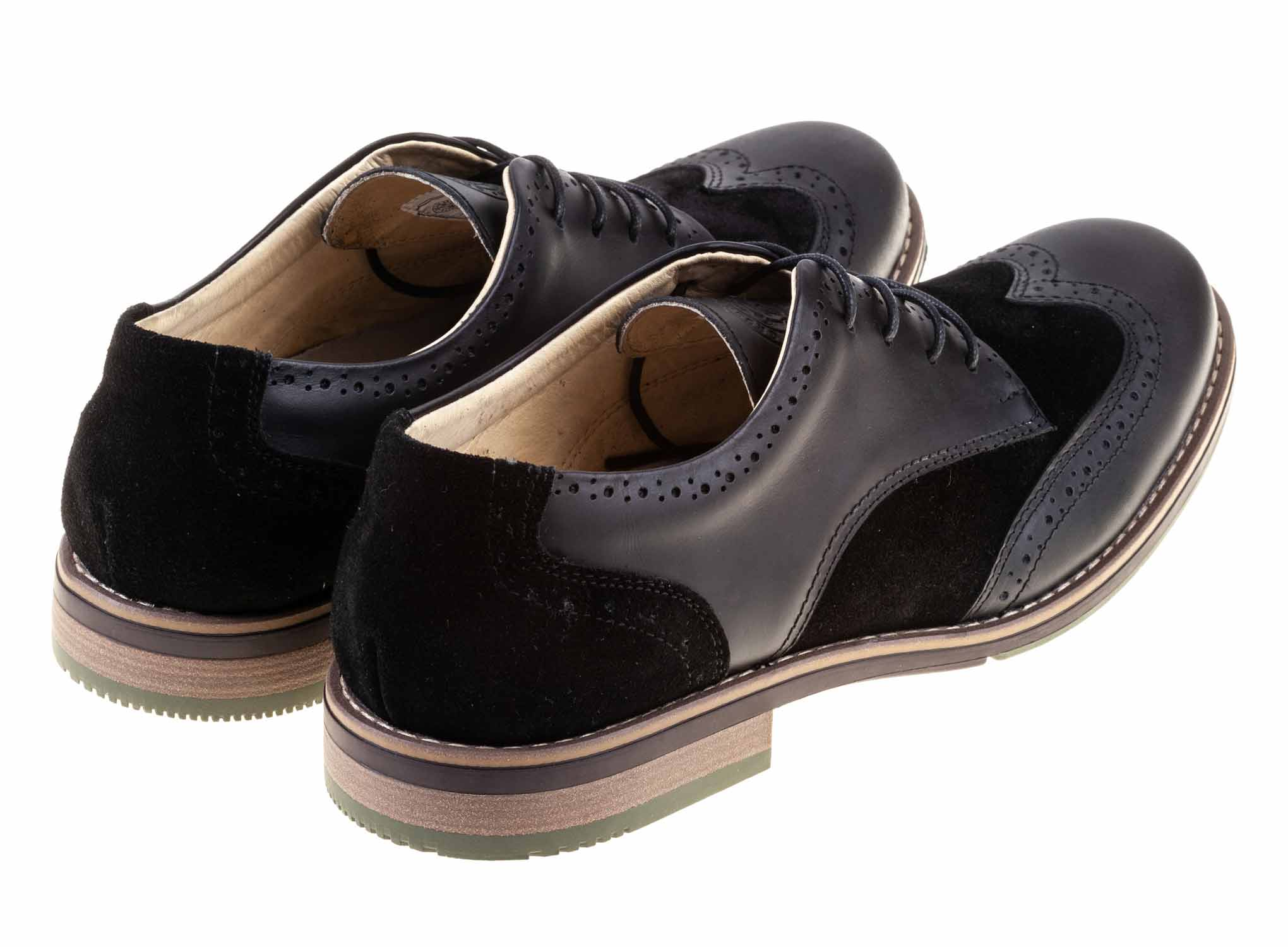 Oxford - Black - Green Bear Shoes