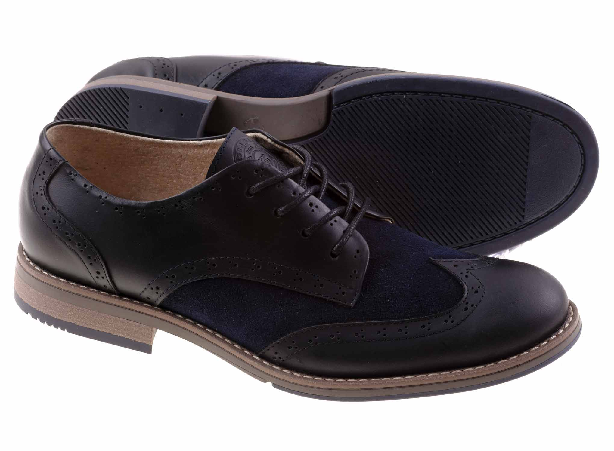 Oxford - Blue - Green Bear Shoes