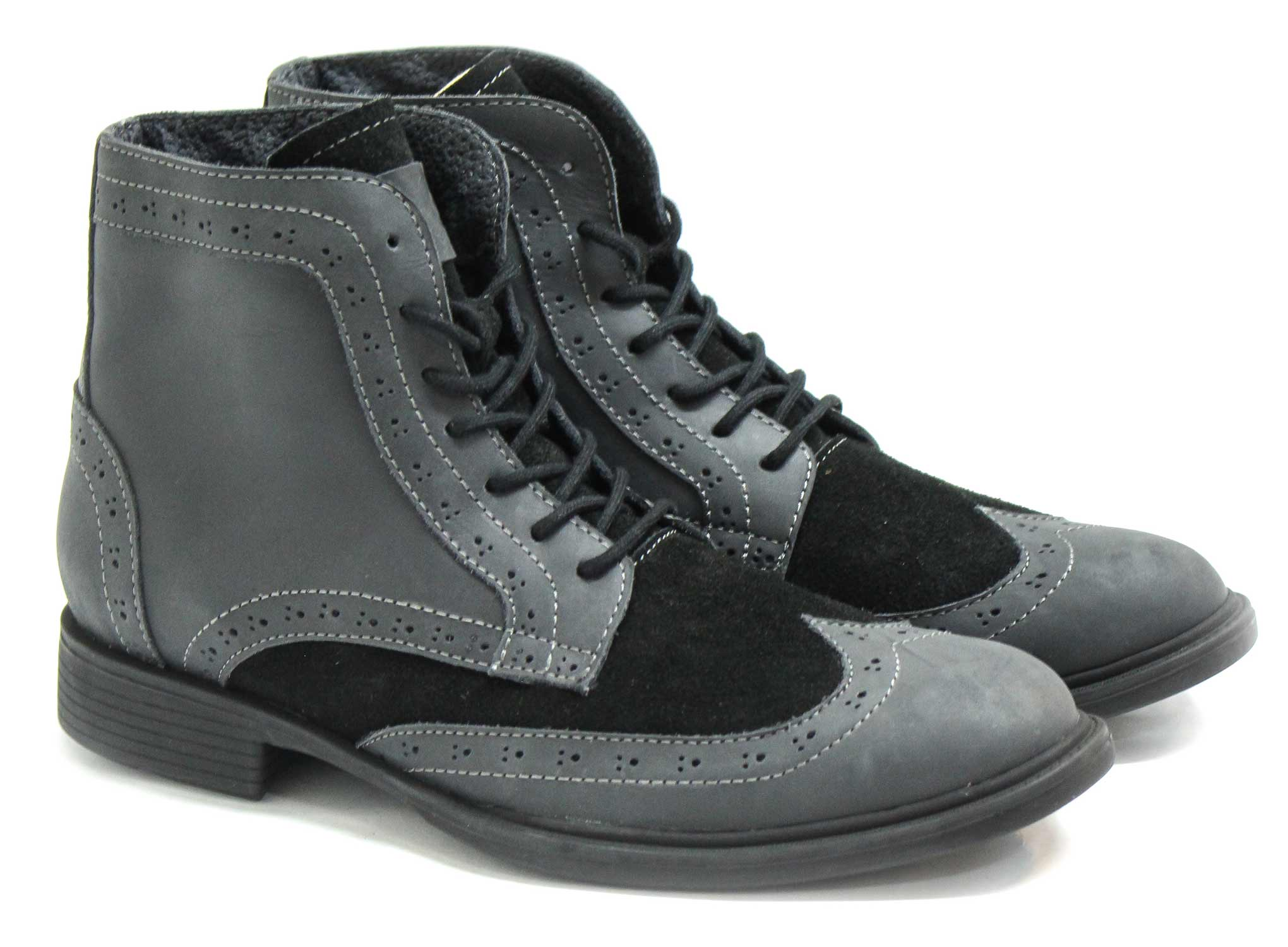 Oxford Boots - Black - Green Bear Shoes