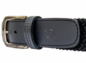 Belt Sport - Black - Green Bear Shoes