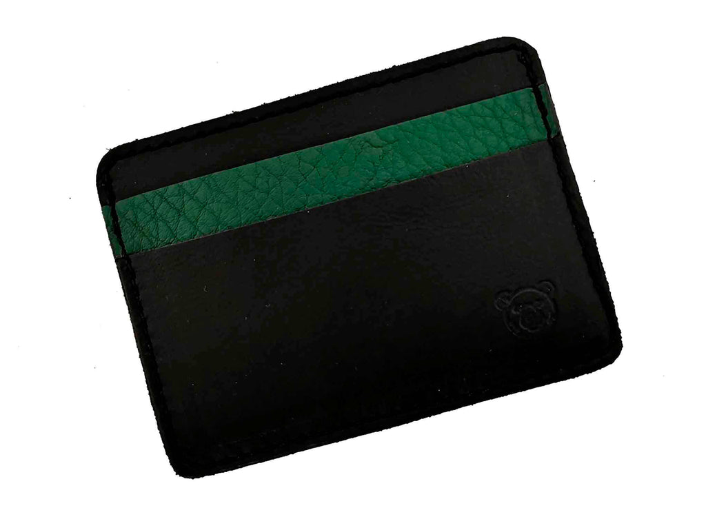 Wallet Casual - Black - Green Bear Shoes