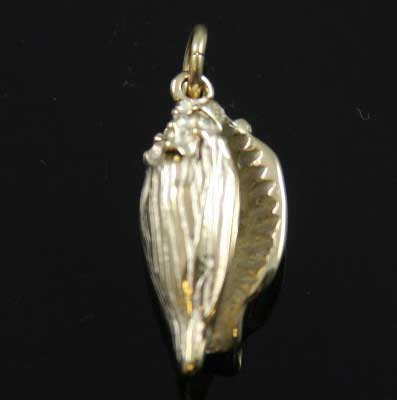 Conch Shell Charm - Silver