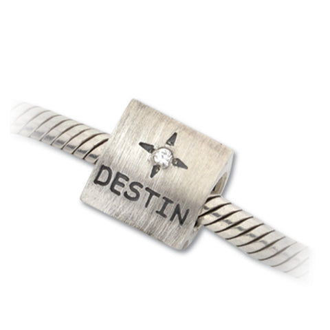 Destin 3 sided Bead Charm