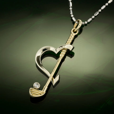 Golf Pendant - I LOVE Golf