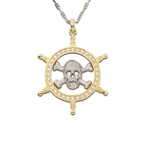 Diamond Danger Ahead Pendant