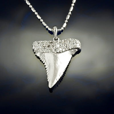 Shark Tooth Pendant - Pave Diamond