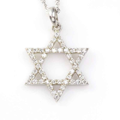 Star of David Pendant - Diamond