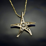 Diamond Starfish Pendant - Large