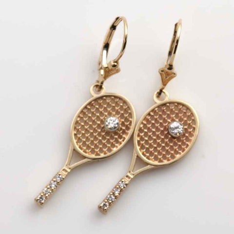 Tennis Racket Earrings - Diamond SKU: PN1003-E