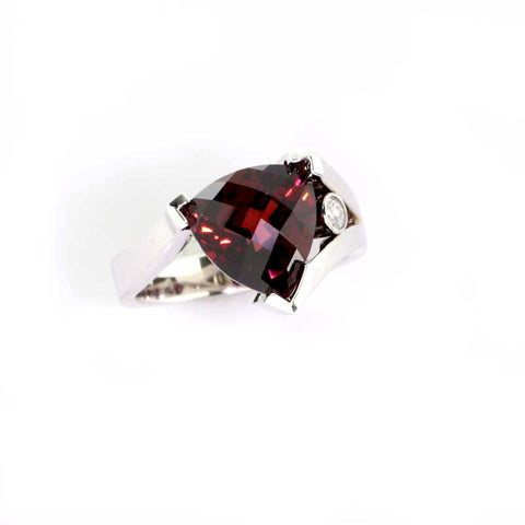 Garnet Trillion Ring